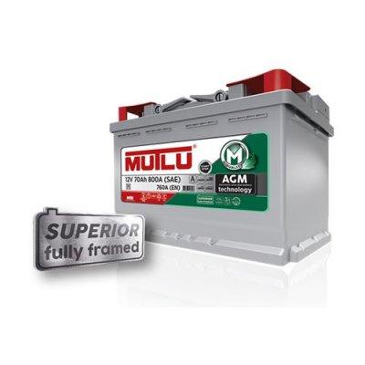 MUTLU AGM 70AH 760A R+ 278X175X190